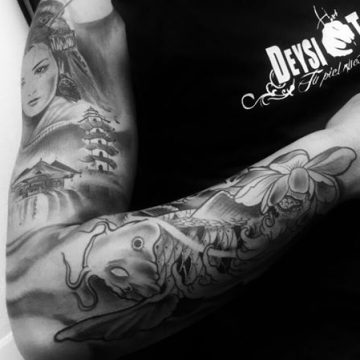 carpa (freehand) by @deysitattoo
